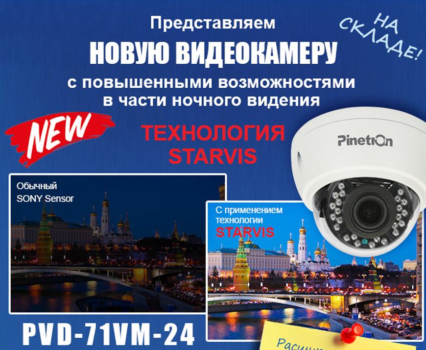 Купольная видеокамера с технологией STARVIS